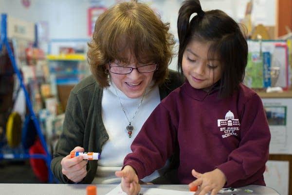 Pre-kindergarten student Gloria Marchan