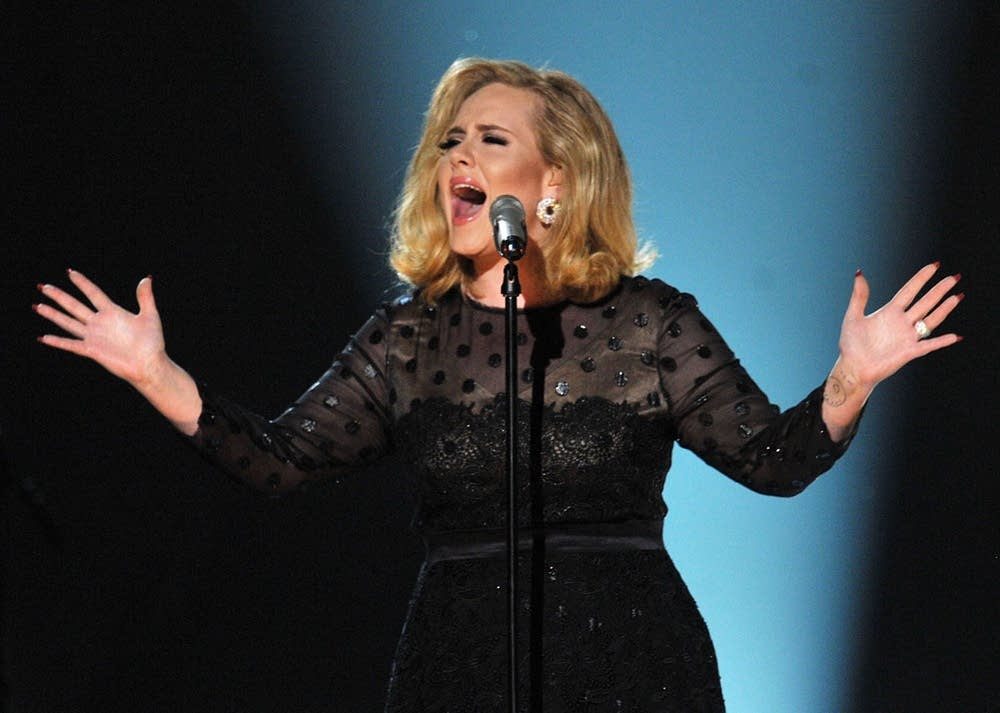 Adele performs at the Grammys