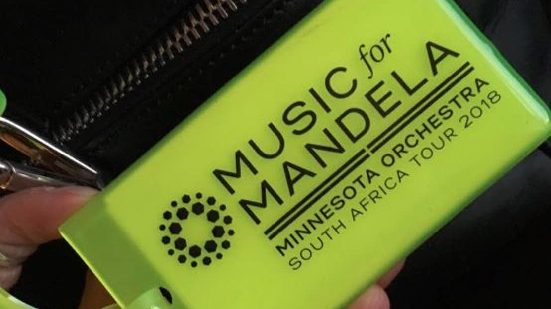 A tag for the Minnesota Orchestra's tour of South Africa.