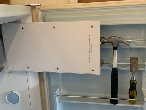 Photo of Luke's Freezer, which he broke trying to chisel frost off it