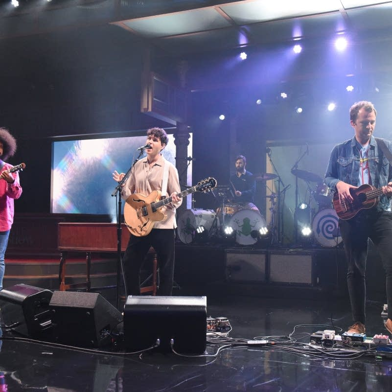 Vampire Weekend perform on 'The Late Show with Stephen Colbert'