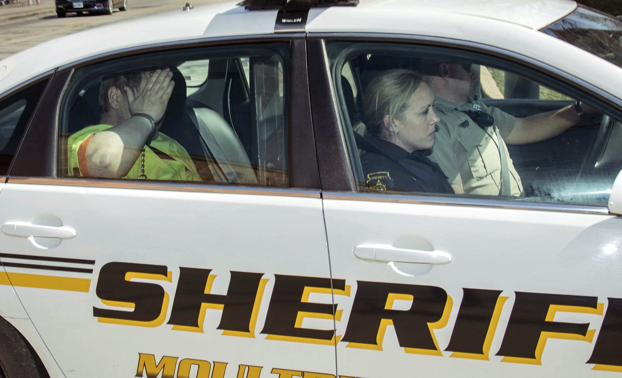 Moultrie County Sheriff deputies transport Michael McWhorter.