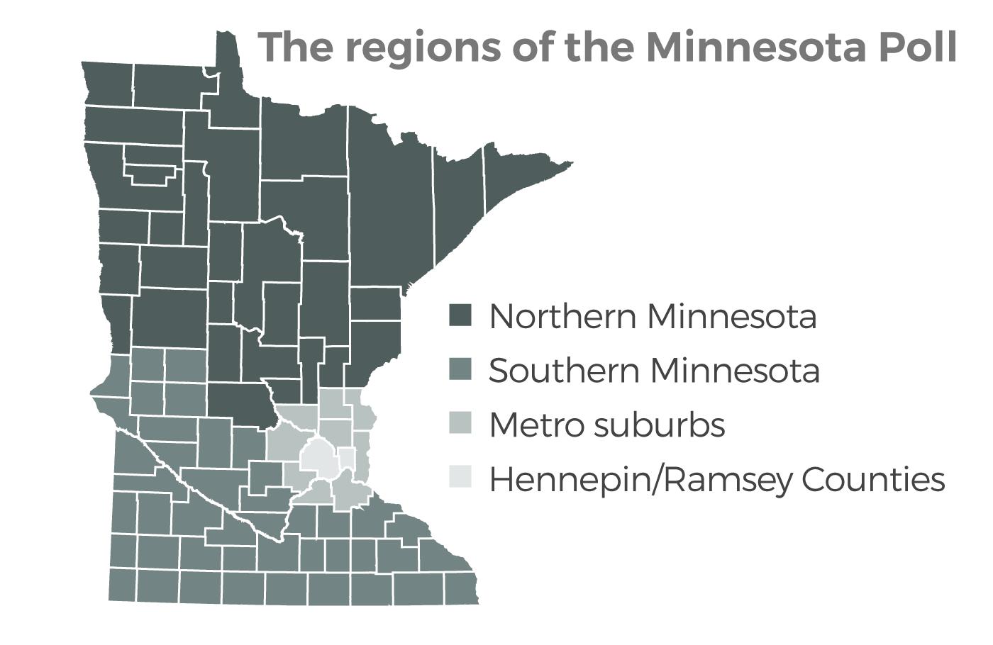 Regions Map, Minnesota Poll 10/18