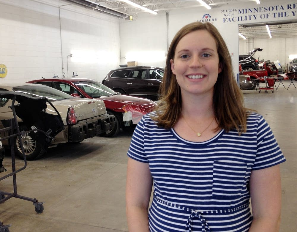 Laura Klatt Jacobson of Heppner's Auto Body