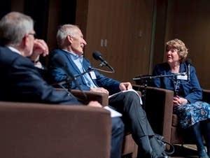 Republican U.S. Senator Dave Durenberger and writer Lori Sturdevant