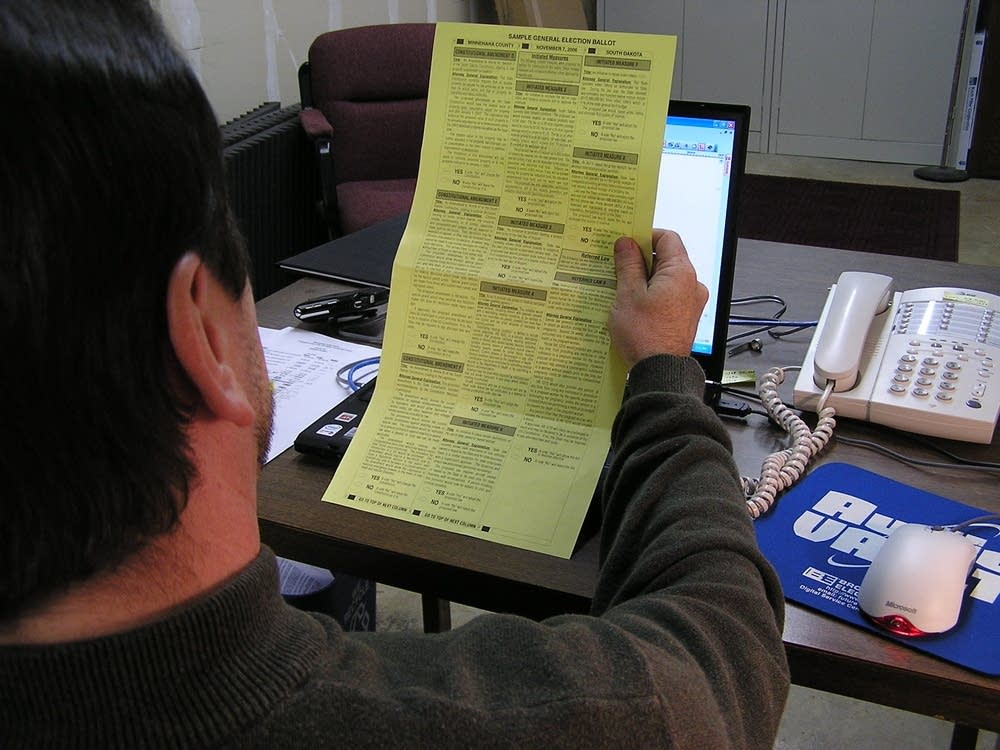 South Dakota's sample ballot