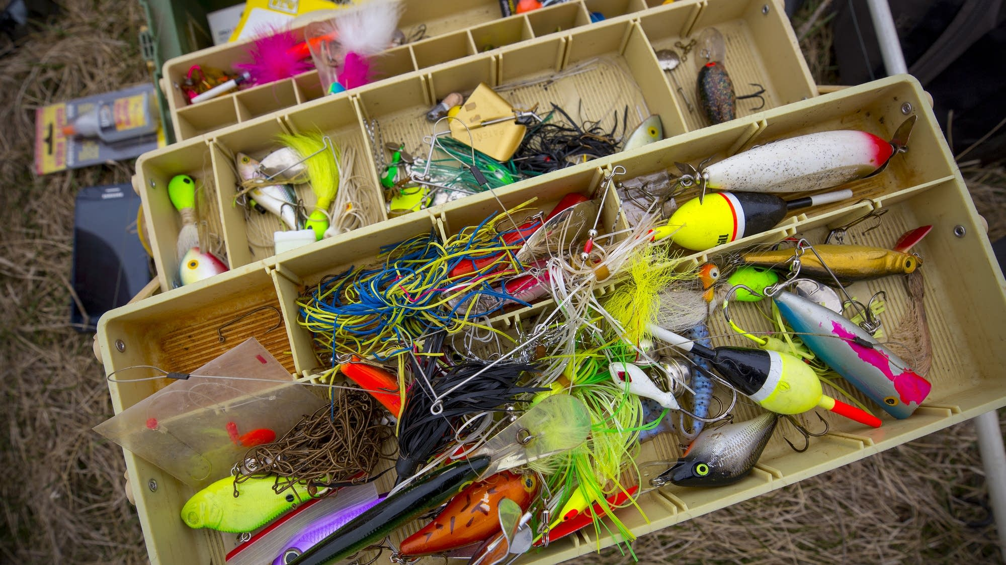 Colorful fishing tackle