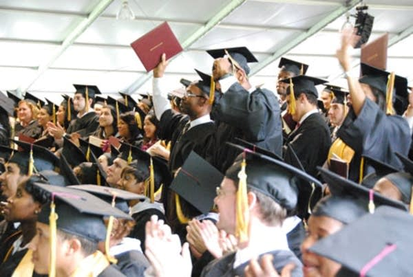Students on their graduation day