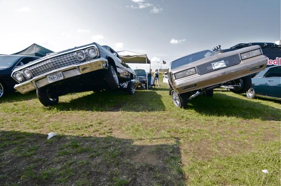 Cars on display at Soundset 2012