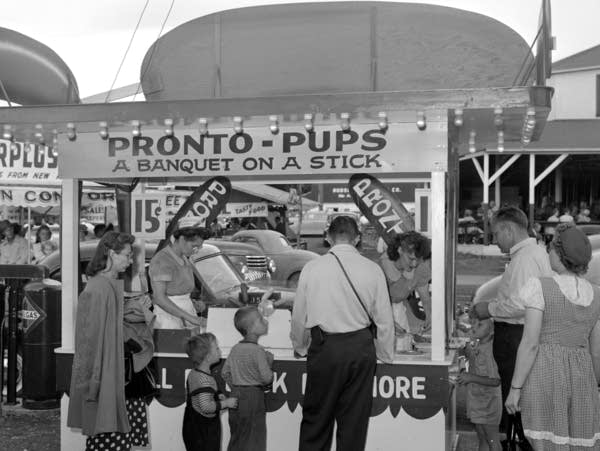 One of the first Pronto Pups booths, 1947