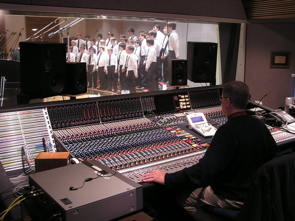 Recording the choir