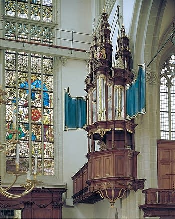 1651 van Hagerbeer organ at the Nieuwe Kerk, Amsterdam, The Netherlands