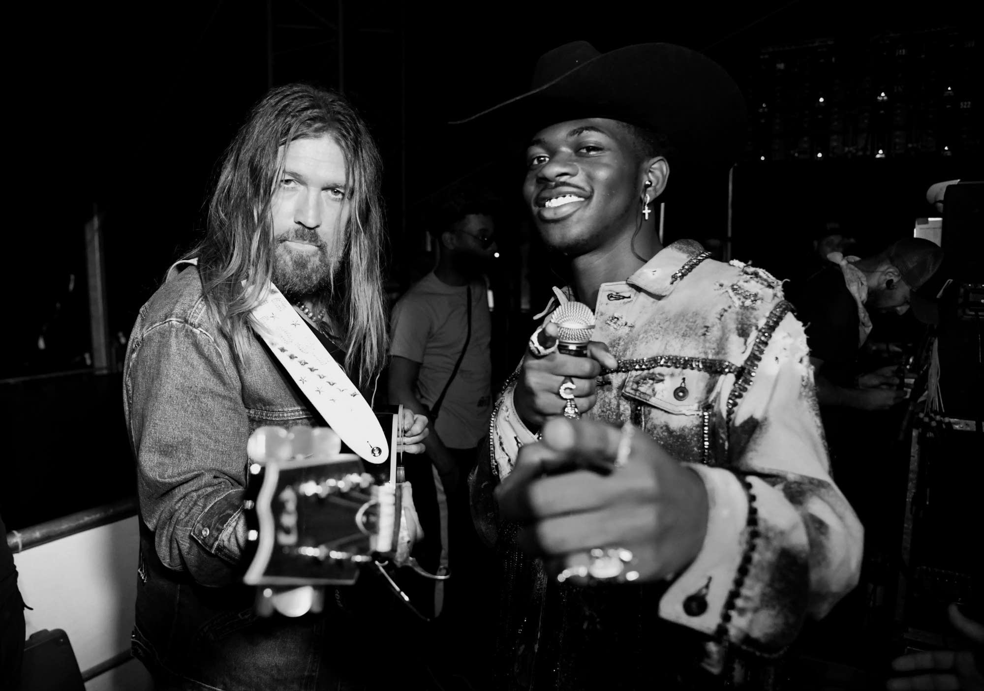 Billy Ray Cyrus and Lil Nas X at Stagecoach Festival
