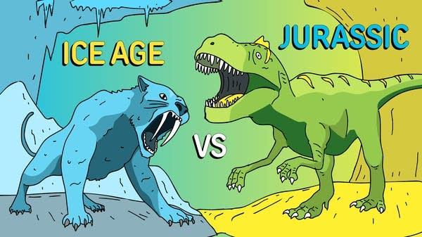 Ice Age vs Jurassic