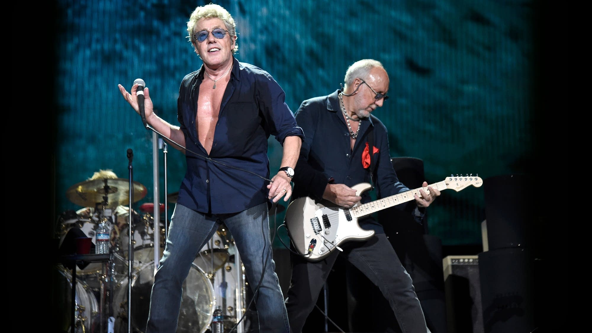 Singer Roger Daltrey and guitarist Pete Townshend are the Who.