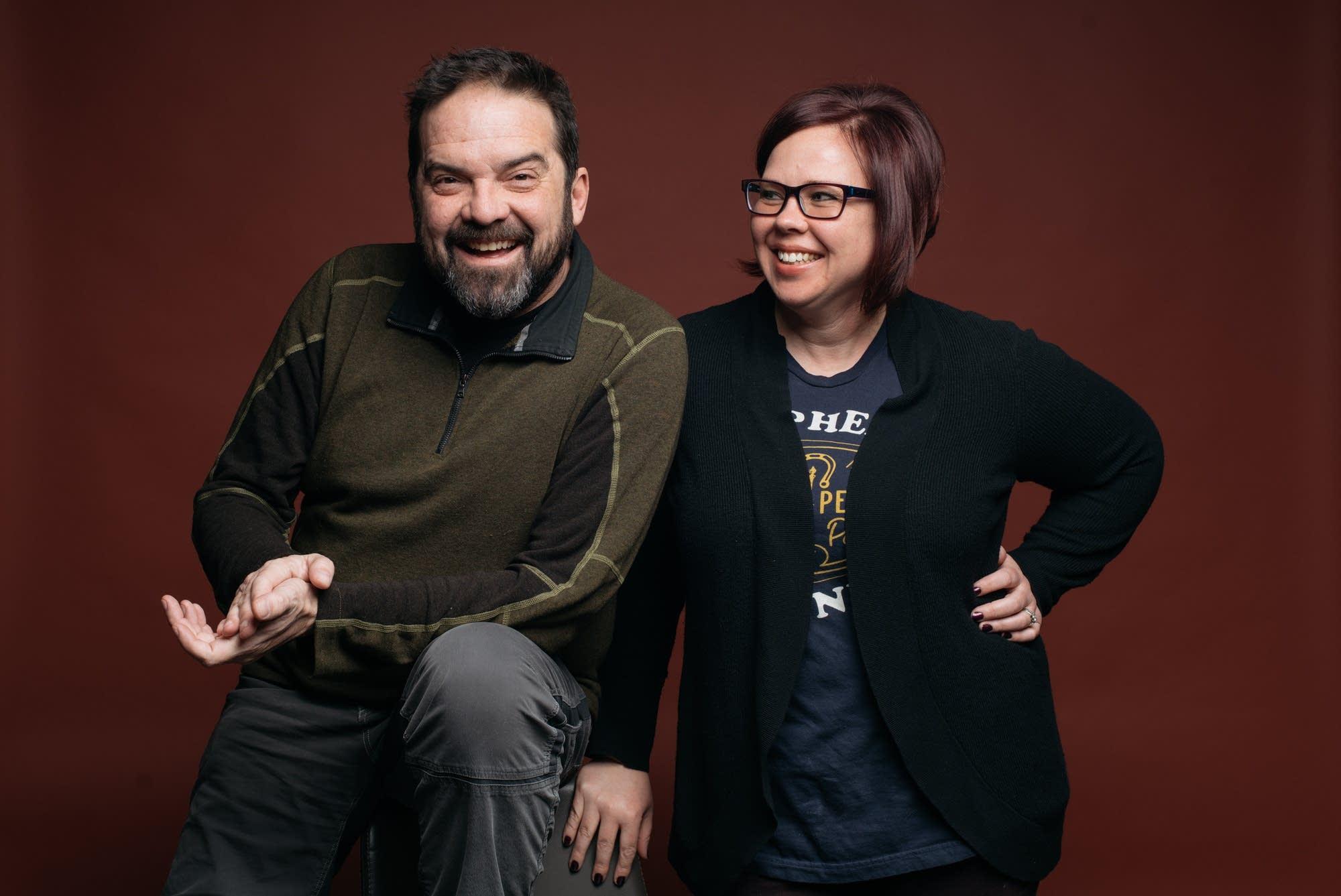 Brian Oake and Jill Riley