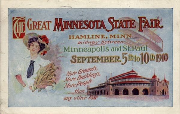 A postcard for the 1910 Minnesota State Fair
