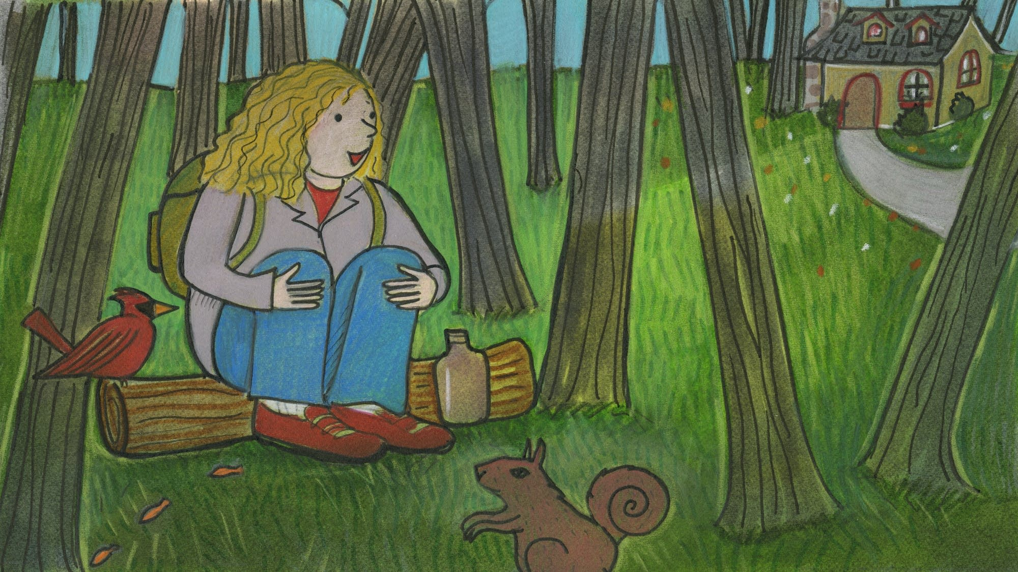 Goldilocks and the Three Bears: Goldilocks sat down.