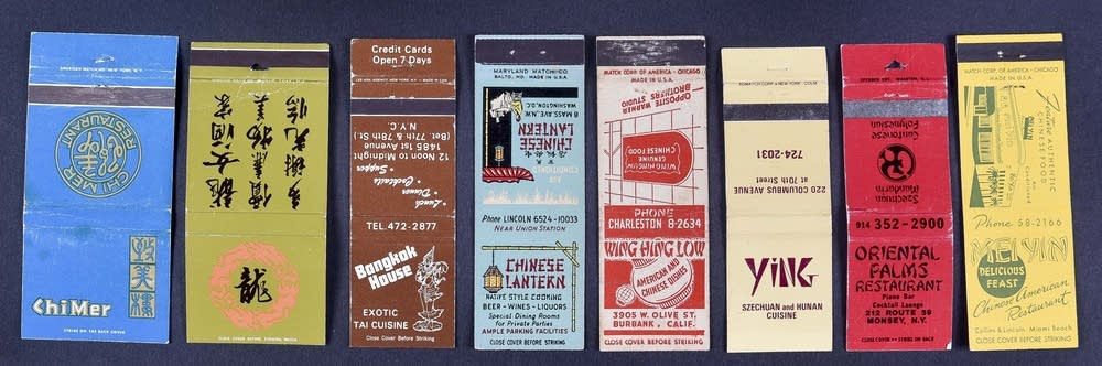 Matchbooks from Harley Spiller's collection