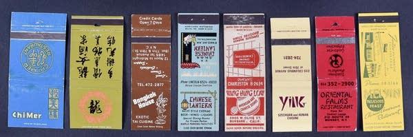Matchbooks from Harvey Spiller's collection