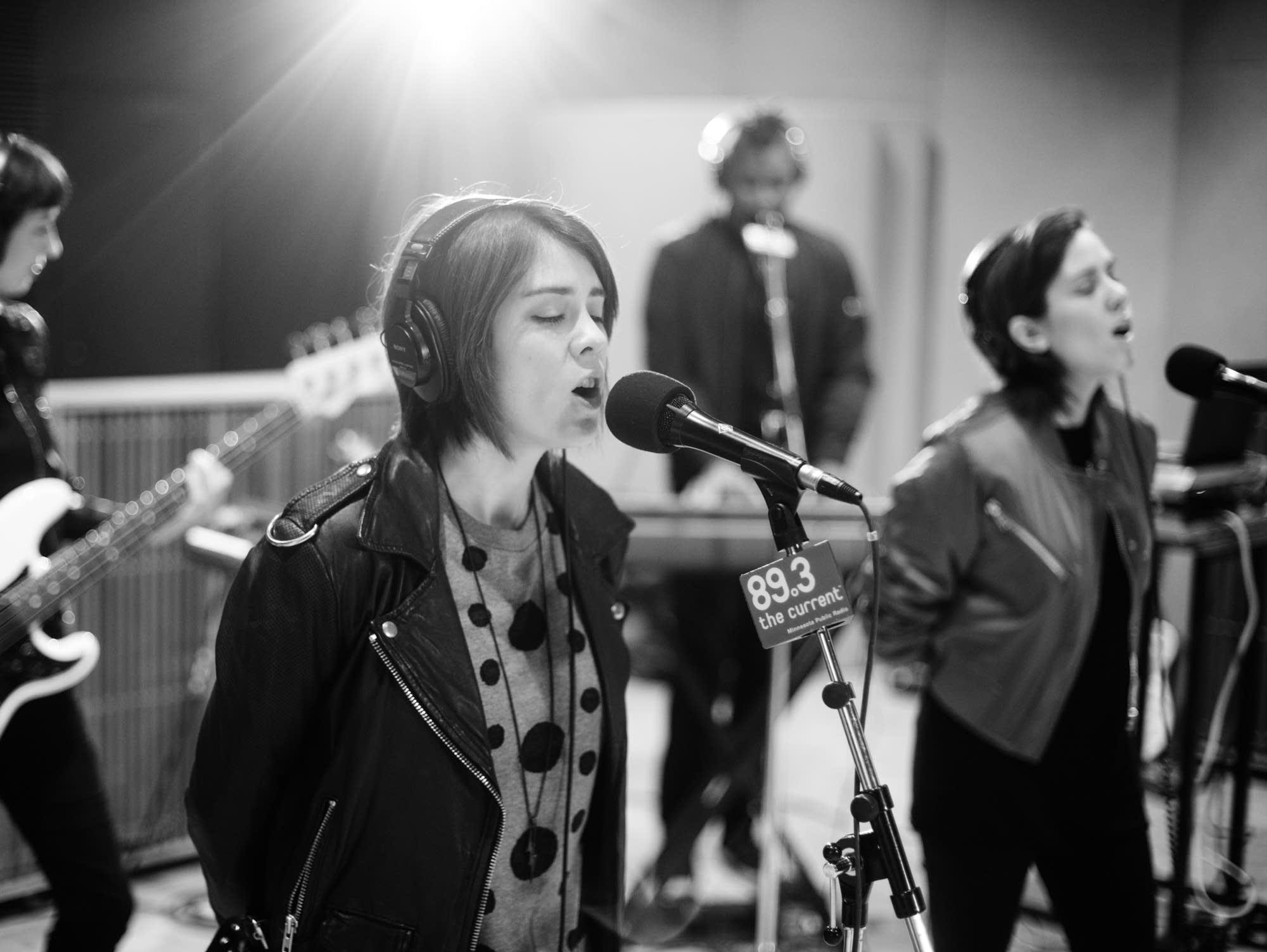 Tegan and Sara perform in The Current studio