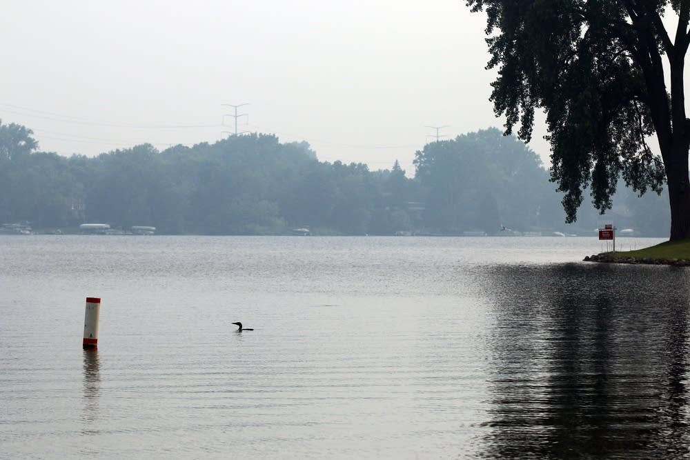 Wildfires created hazy skies in the metro area.