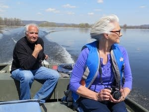 Leo and Marilyn Smith on a river outing.