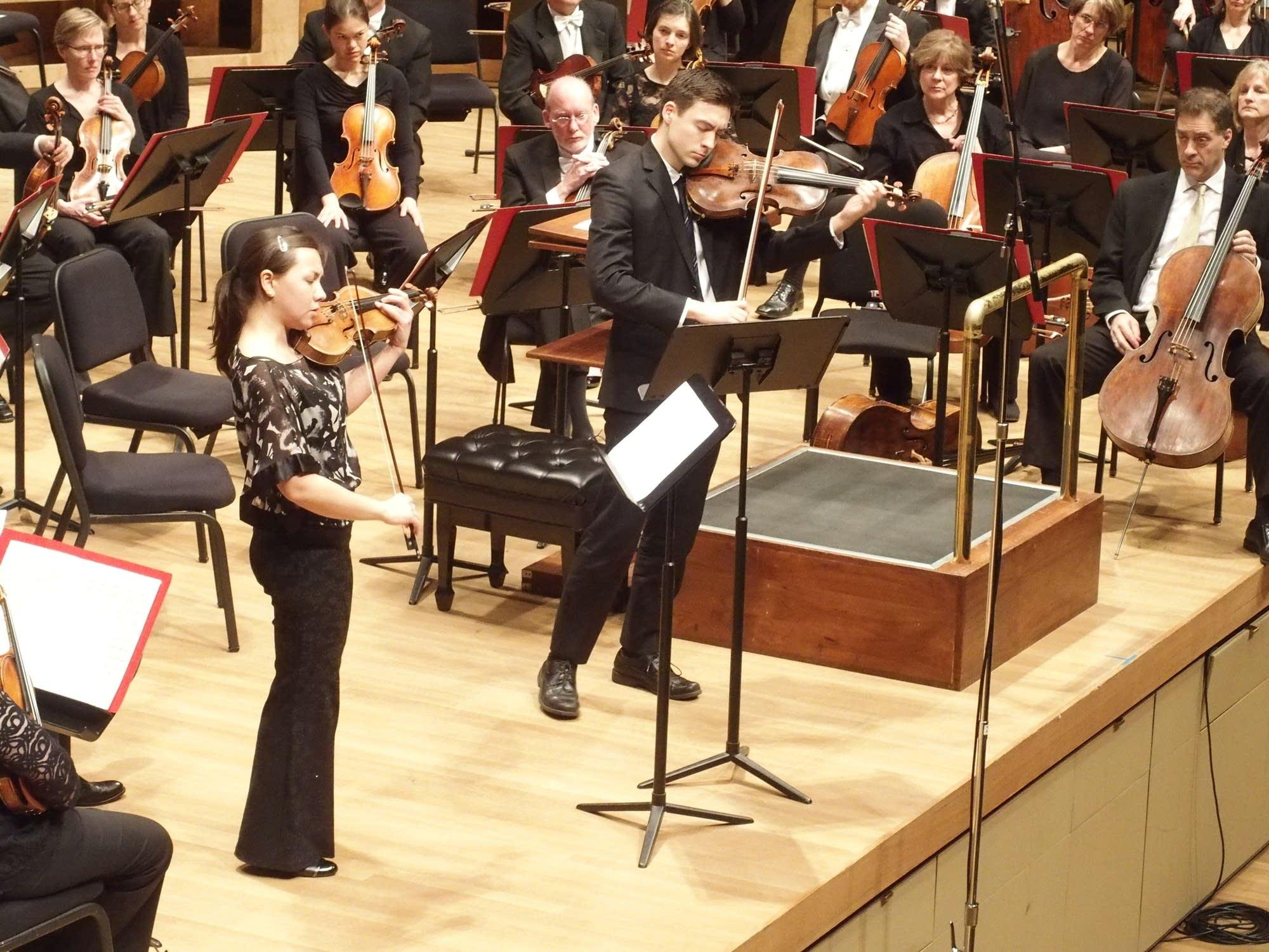 Ariana and Daniel Kim played Skrowaczewski's Duet for Violin and Viola