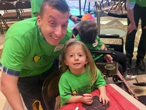 Kevin Youngquist and his daughter Hope have Multiple Pterygium Syndrome.