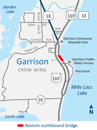 Highway 169 Garrison Northbound bridge