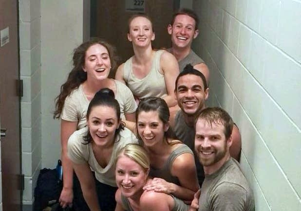 Dancers backstage at MacPhail