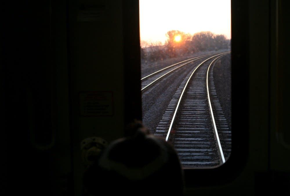 Morning train ride