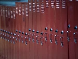 Lockers await a new school year.
