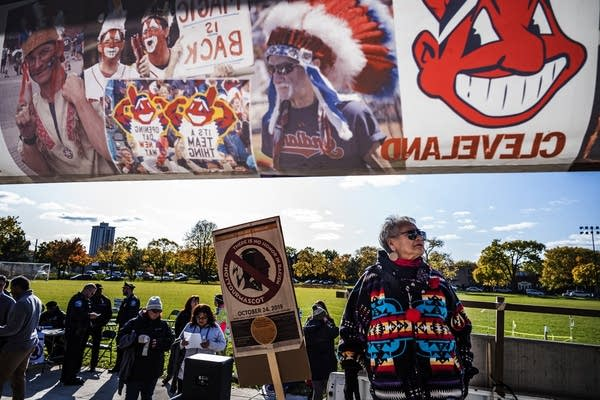 Protesters march from Peavey Park to U.S. Bank Stadium