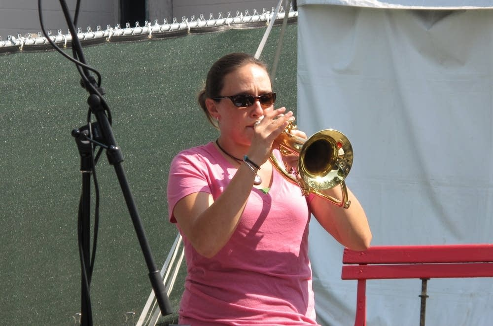 Trumpet player Allison Hall