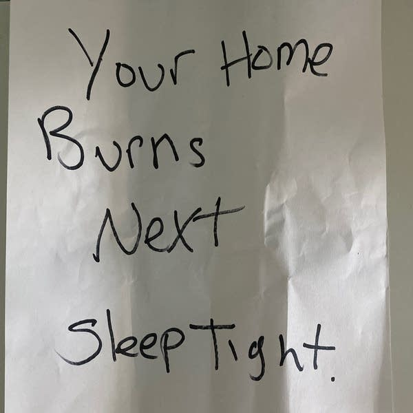 A threatening note
