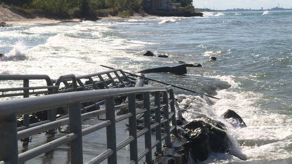 Great Lakes Shoreline Erosion Made Worse by Climate Change