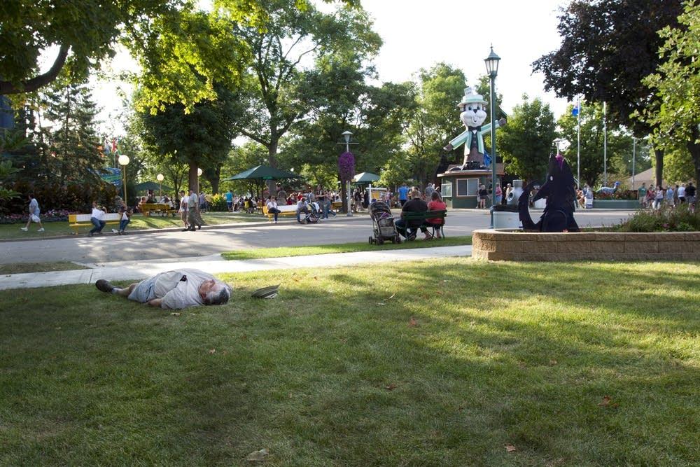 Asleep at the fair