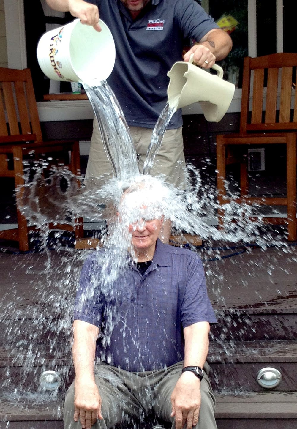 Gov. Dayton took the Ice Bucket Challenge