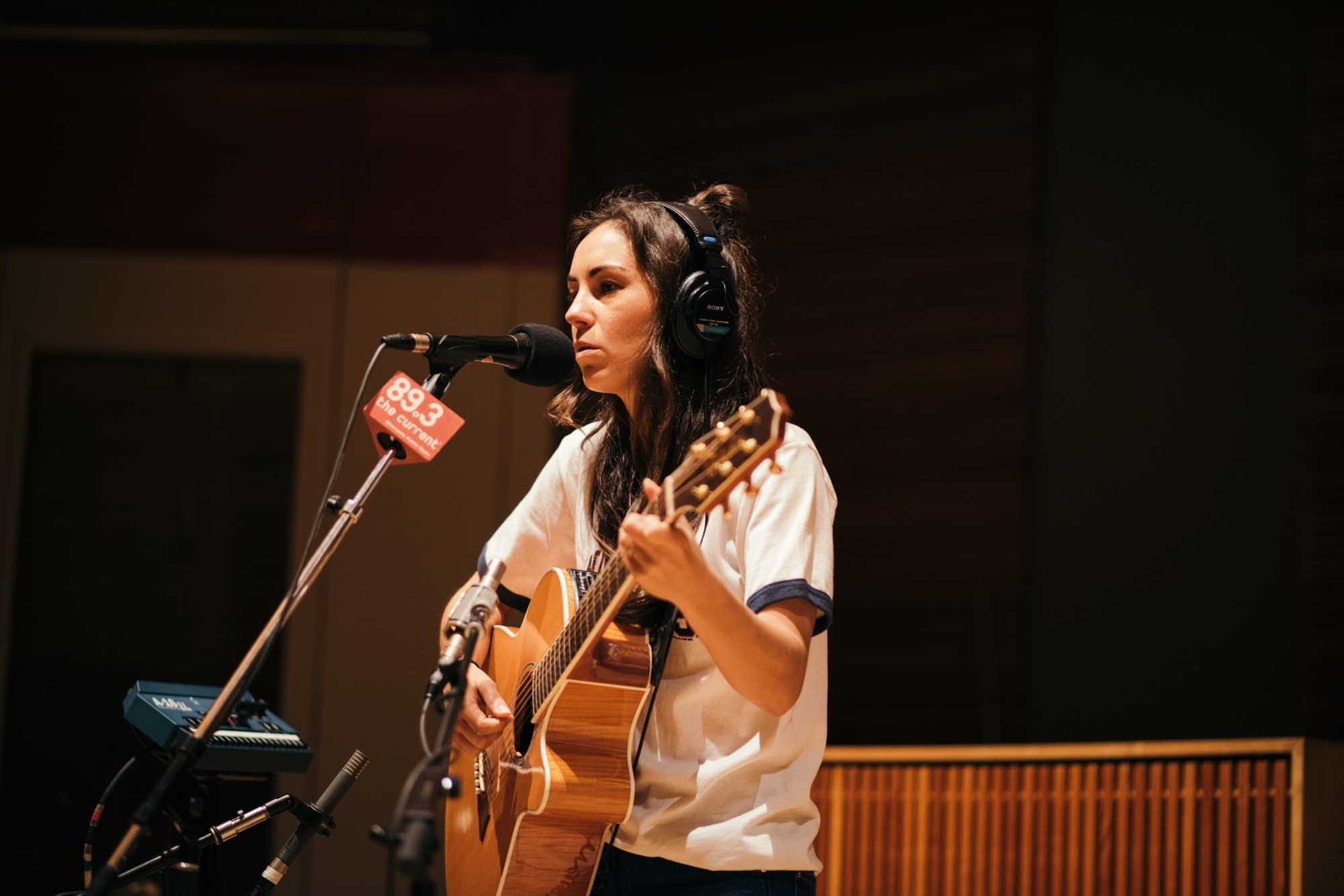 Amy Shark performs in The Current studio