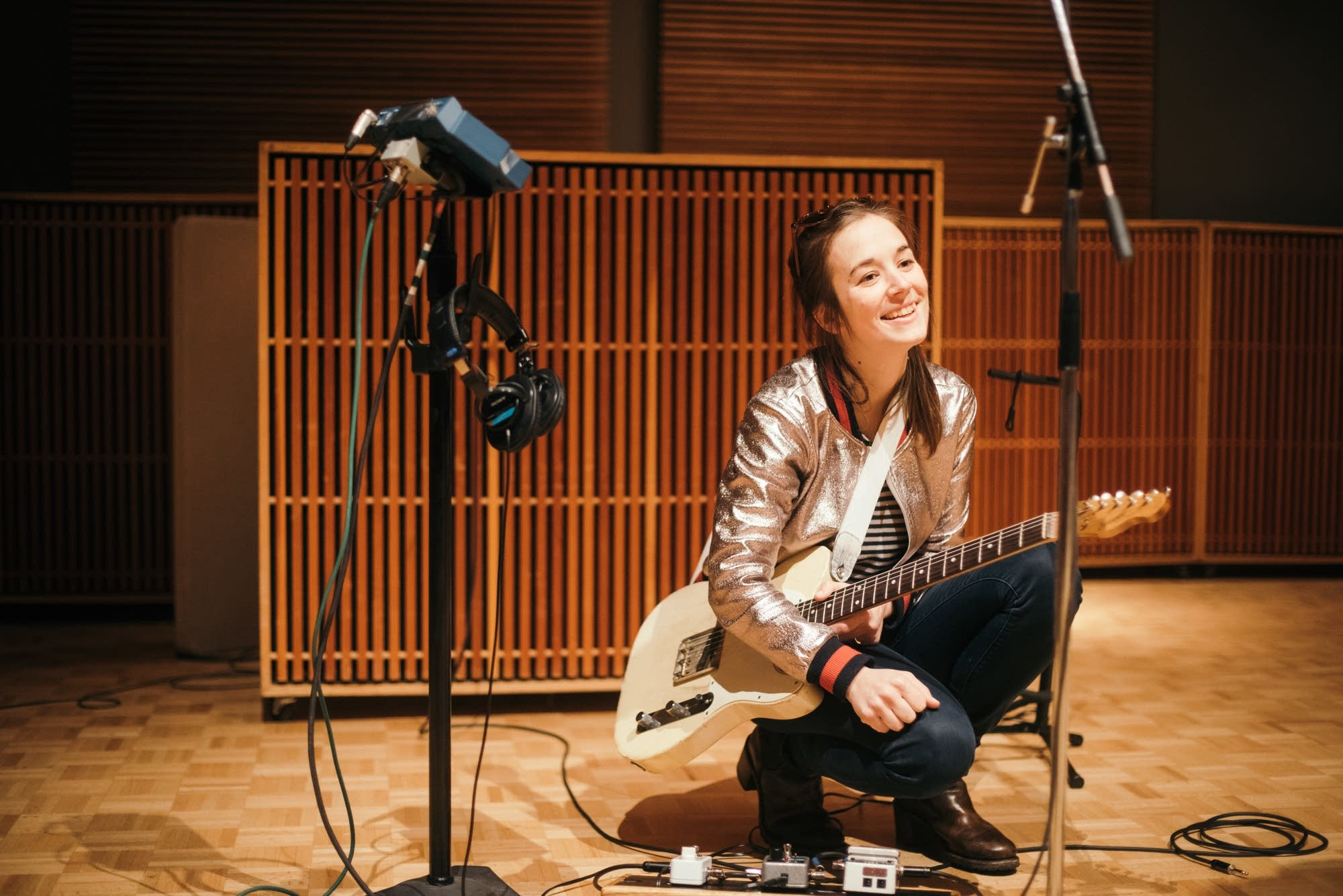 Margaret Glaspy in the studio