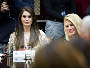 Hope Hicks, pictured on March 27, 2017