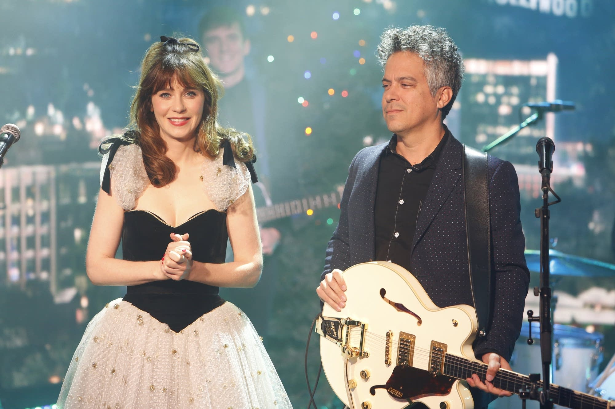 She and Him perform on 'Jimmy Kimmel Live' on ABC