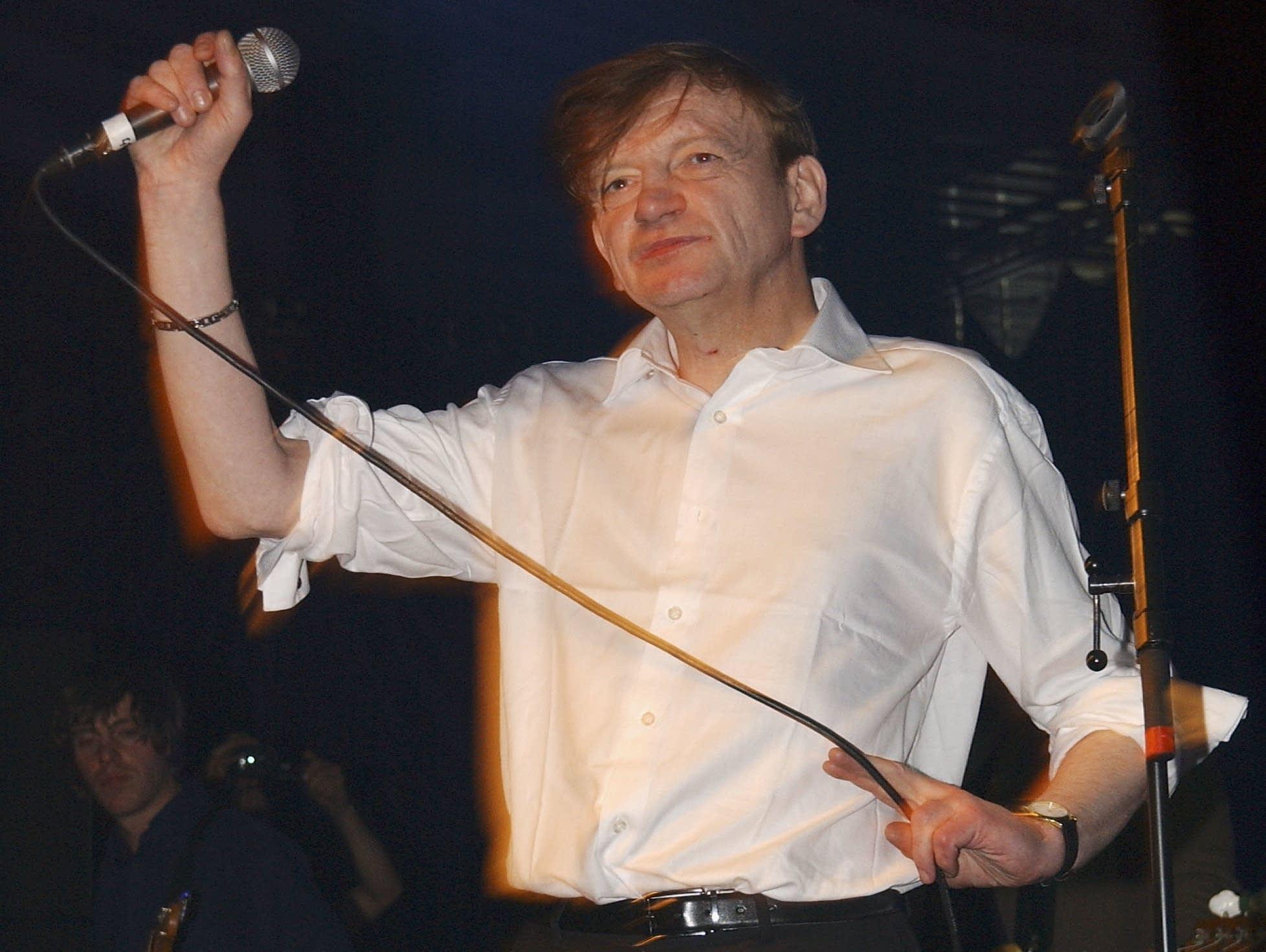 Mark E. Smith performs in London, 2007.