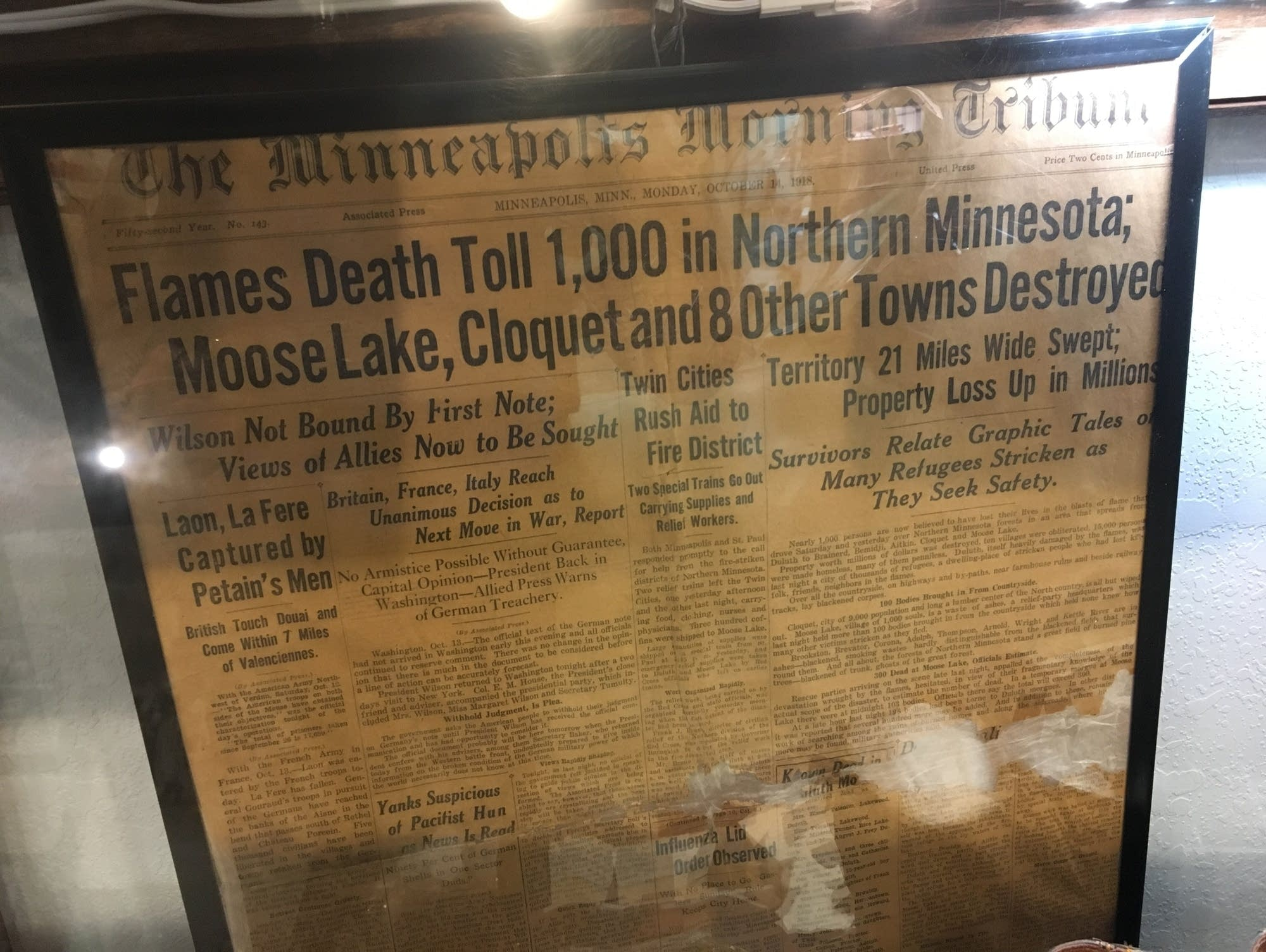Remembering the 1918 Cloquet-Moose Lake fire