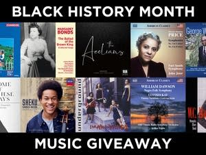 Black History Month music giveaway