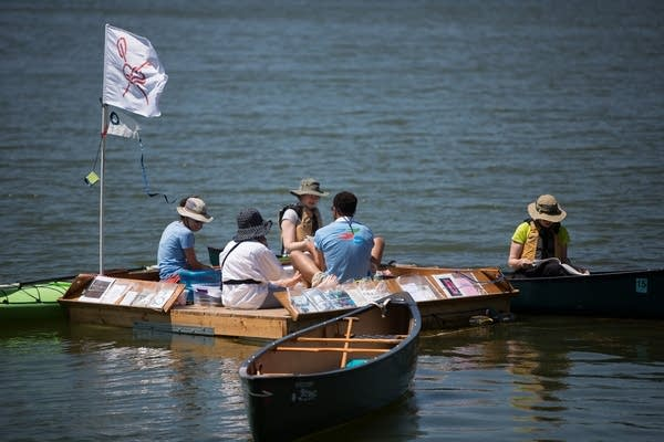 The Floating Library on Silver Lake