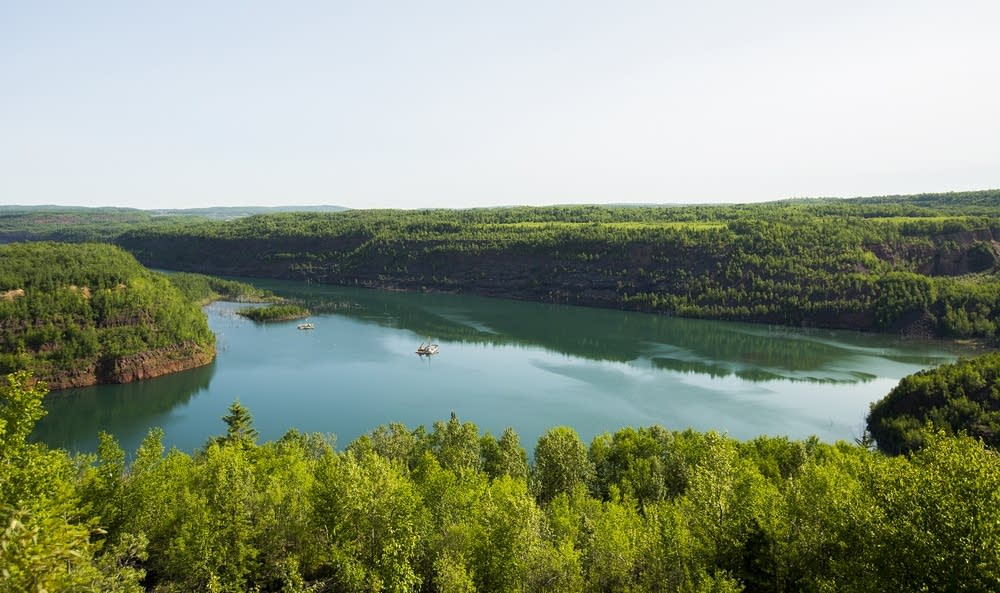 The abandoned Rouchleau mine pit