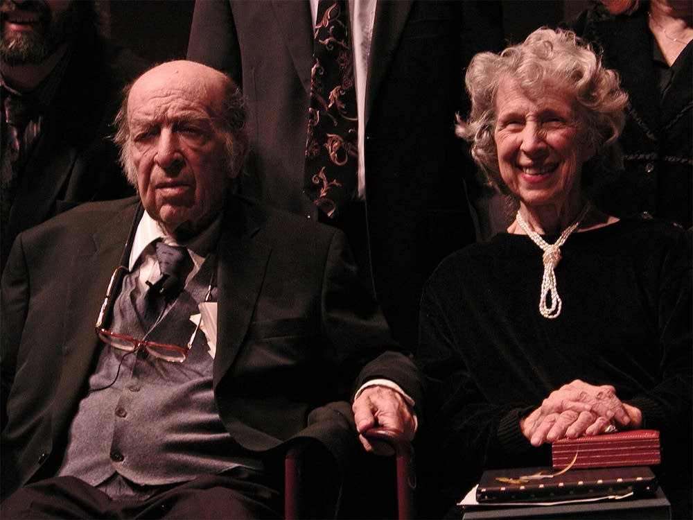 Hurwicz and wife