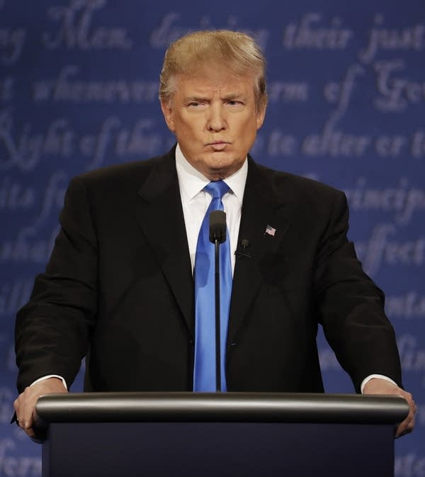 Donald Trump speaks at first debate
